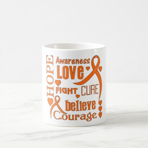 Skin Cancer Hope Words Collage Mug