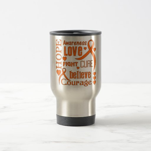 Skin Cancer Hope Words Collage Coffee Mug