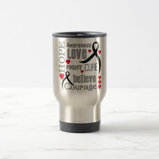 Skin Cancer Hope Words Collage Coffee Mugs