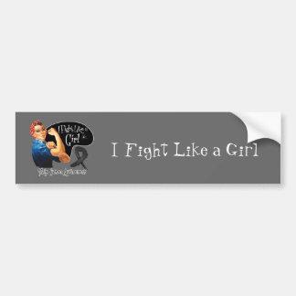 Skin Cancer I Fight Like a Girl Rosie The Riveter Car Bumper Sticker