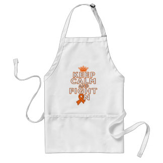 Skin Cancer Keep Calm Fight On Apron