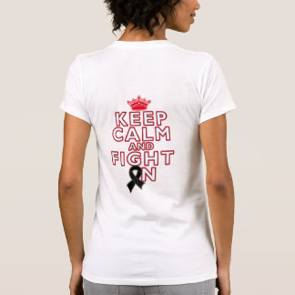Skin Cancer Keep Calm Fight On T Shirt