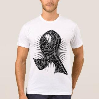 Skin Cancer Powerful Ribbon Slogans Tshirts