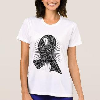 Skin Cancer Powerful Ribbon Slogans Tshirt
