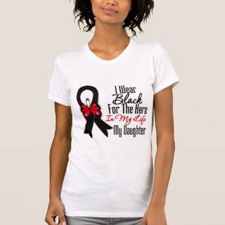 Skin Cancer Ribbon Hero My Daughter Shirt