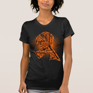 Skin Cancer Ribbon Powerful Slogans T-shirt