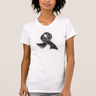Skin Cancer Slogan Watermark Ribbon Shirts