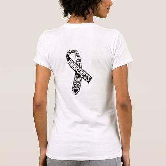 Skin Cancer Slogans Ribbon Tshirt