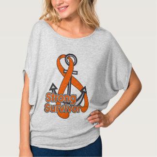 Skin Cancer Strong Survivor Anchor T Shirt
