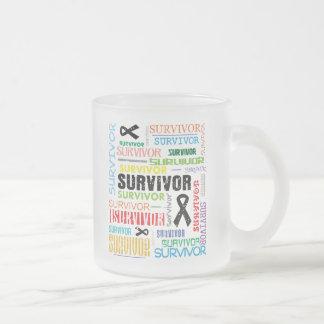 Skin Cancer Survivor Collage png Mug