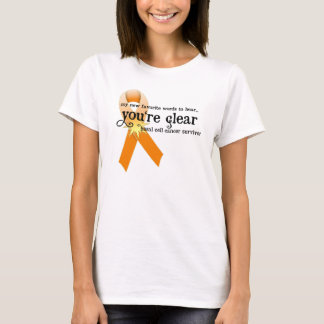 Skin Cancer Survivor D5 :: You're Clear T-Shirt