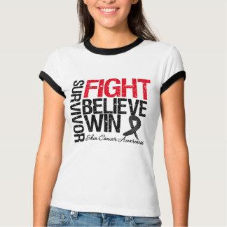 Skin Cancer Survivor Fight Believe Win Motto Tees