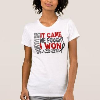 Skin Cancer Survivor It Came We Fought I Won Tee Shirt