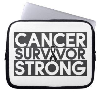 Skin Cancer Survivor Strong Computer Sleeves