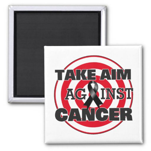 Skin Cancer Take Aim Against Cancer Fridge Magnet