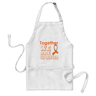 Skin Cancer Together We Are Stronger (Orange) Standard Apron