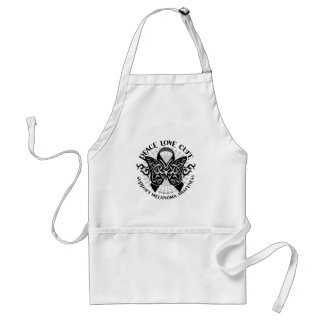 Skin Cancer Tribal Butterfly 2 Standard Apron