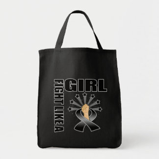 Skin Cancer Victory Fight Like A Girl Canvas Bag
