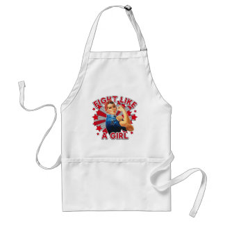 Skin Cancer Vintage Rosie Fight Like A Girl Aprons