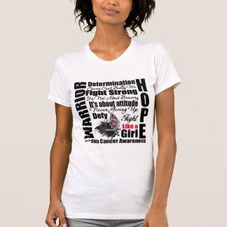 Skin Cancer Warrior Fight Slogans T Shirts
