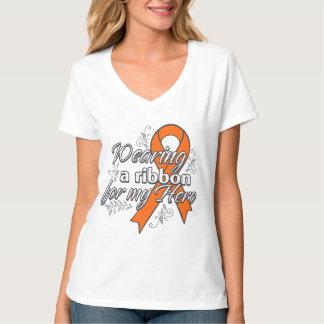Skin Cancer Wearing a Ribbon for My Hero v2 Tee Shirts
