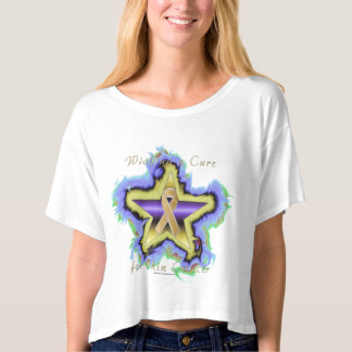 Skin Cancer Wish Star Ladies Crop Top