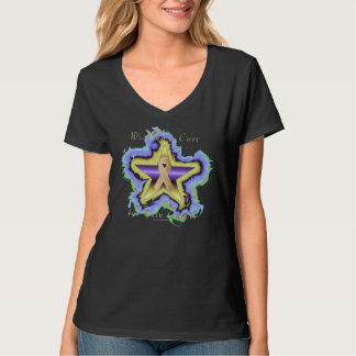 Skin Cancer Wish Star Ladies Nano V-Neck T-shirt