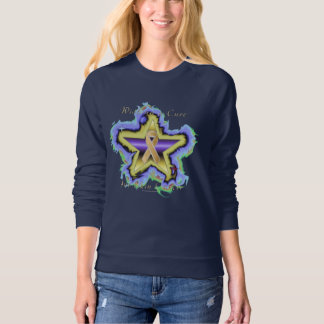 Skin Cancer Wish Star Ladies Raglan Sweatshirt