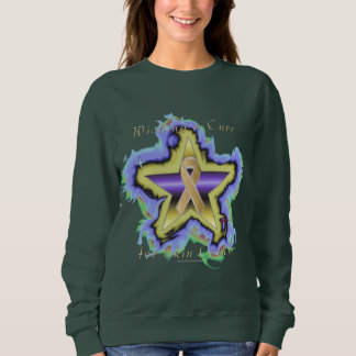Skin Cancer Wish Star Ladies Sweatshirt