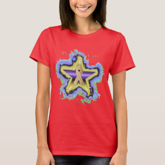 Skin Cancer Wish Star Ladies T-Shirt