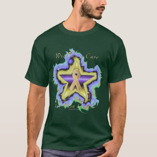 Skin Cancer Wish Star Men's Dark T-Shirt