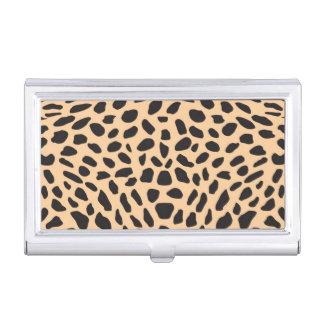 Skin cheetah decor business card holder