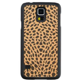 Skin cheetah decor carved maple galaxy s5 case