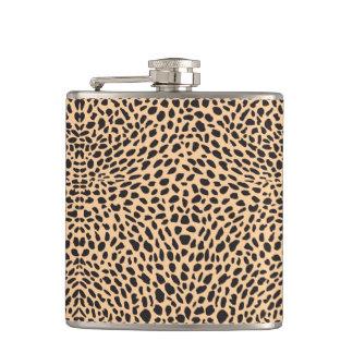 Skin cheetah decor hip flask