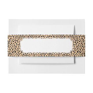 Skin cheetah decor invitation belly band
