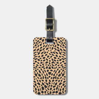 Skin cheetah decor luggage tag