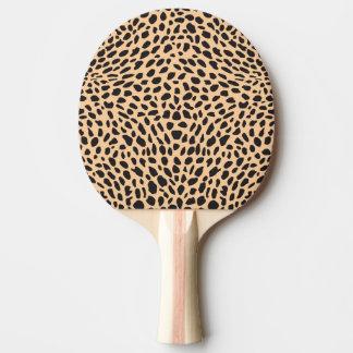 Skin cheetah decor ping pong paddle