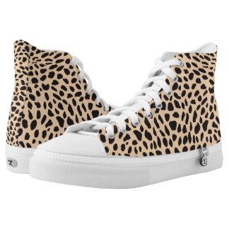 Skin cheetah decor printed shoes