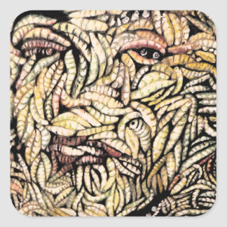 """""""Skin Deep"""" Fine Art Products Square Stickers"""