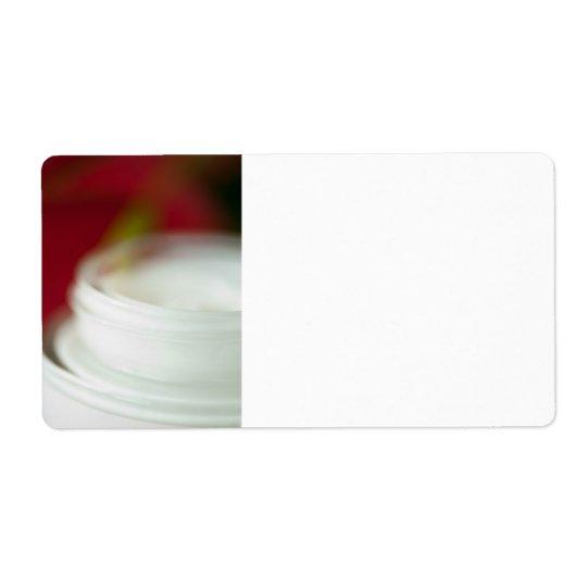 Skin nourishing cream shipping label