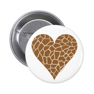 Skin Pattern, Colors of the Giraffe 6 Cm Round Badge