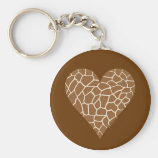 Skin Pattern, Colors of the Giraffe Basic Round Button Key Ring
