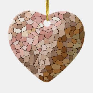 Skin Tone Mosaic Christmas Ornament