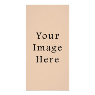 Skin Tone Sand Neutral Color Trend Blank Template Personalized Photo Card