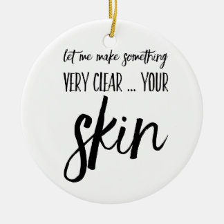 Skincare Christmas ornament gift present