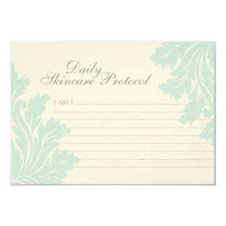 Skincare Protocol Cards 9 Cm X 13 Cm Invitation Card