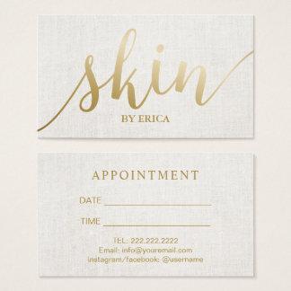 Skincare Salon Spa Esthetician Elegant Appointment Business Card