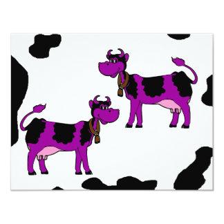Skinney Cows 11 Cm X 14 Cm Invitation Card