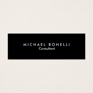 Skinny Black White Minimalist Business Card