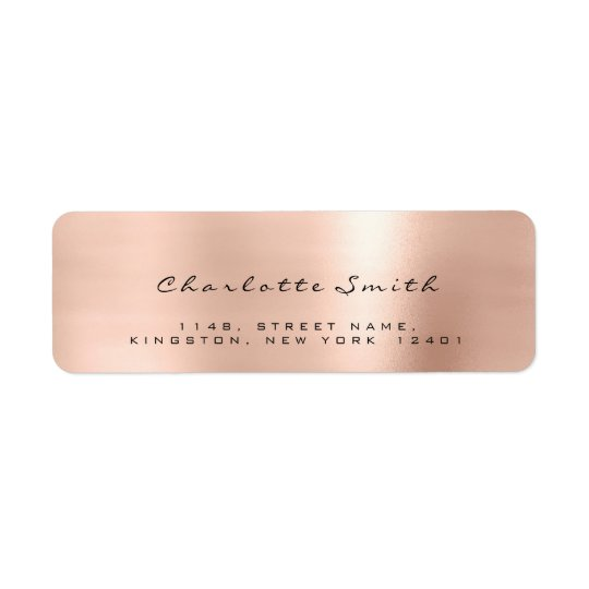 Skinny Blush Pink Rose Lux Return Address Labels